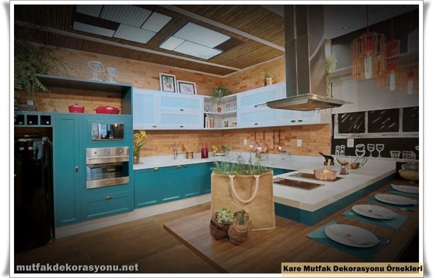 Kare Mutfak Dekorasyonu