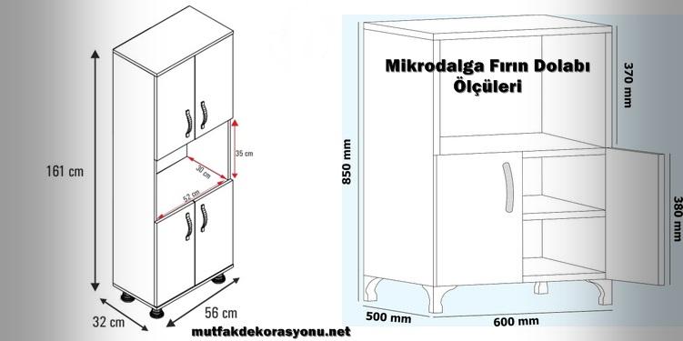 Mikrodalga Fırın Dolabı Ölçüleri