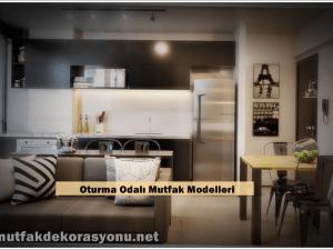 Mutfakla Oturma Odası Birleşik Dekorasyon Örnekleri