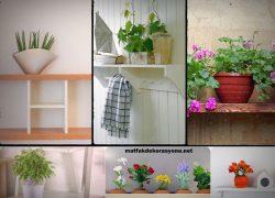 Mutfakta Çiçek Köşesi