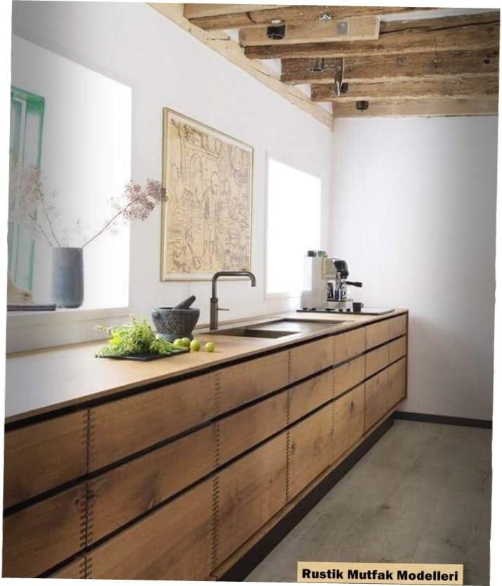 Rustik Mutfak Modelleri : Modern Ahşap