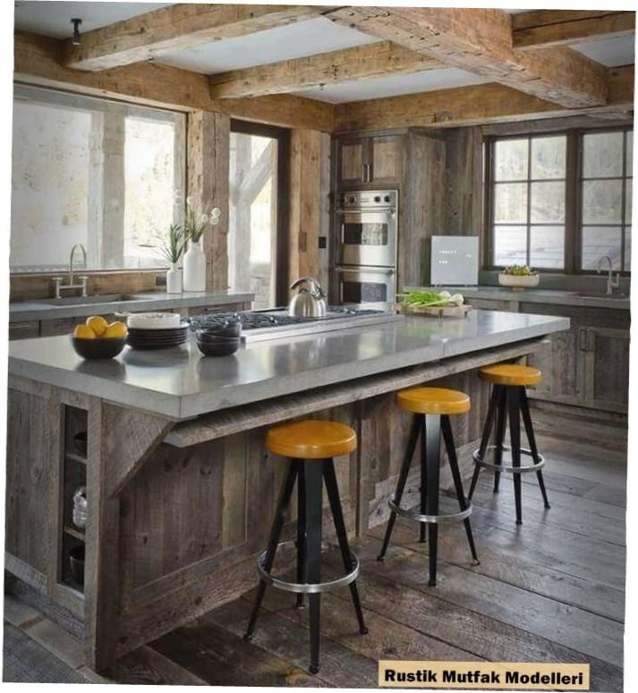 Rustik Mutfak Modelleri : Ahşap Kirişler