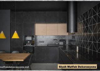 Siyah Mutfak Dekorasyonu